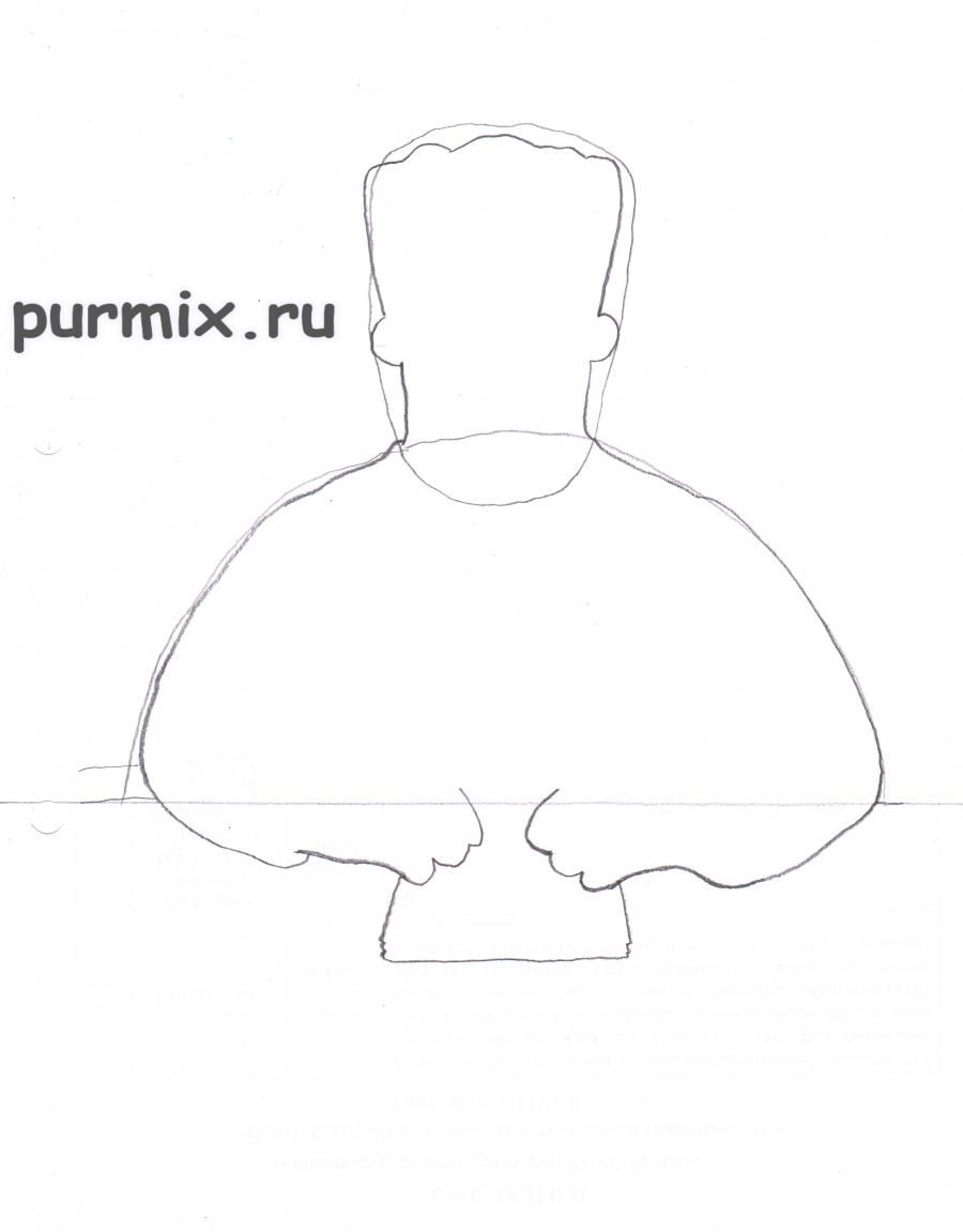 How to draw Abraham Simpson with a pencil on paper step by step 3