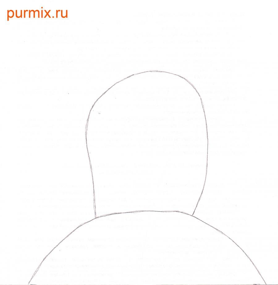 How to draw Leon Kampovski from Simpsonov with a pencil step by step 2