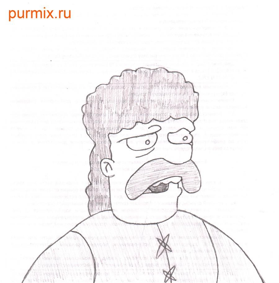How to draw Dzhebedaya of Springfield from Simpsonov with a pencil step by step