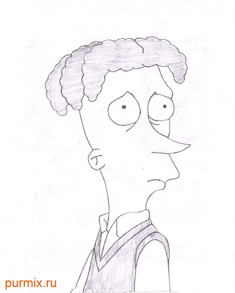 How to draw Cecil Anderdank Tervilliger from Simpsonov