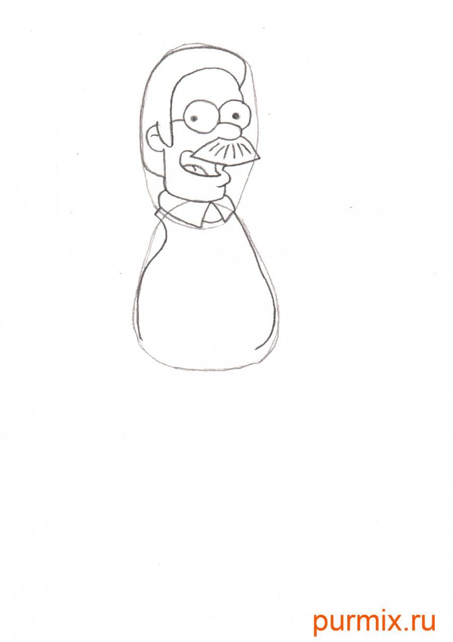 How to draw Maggie from Simpsonov with a pencil step by step 4