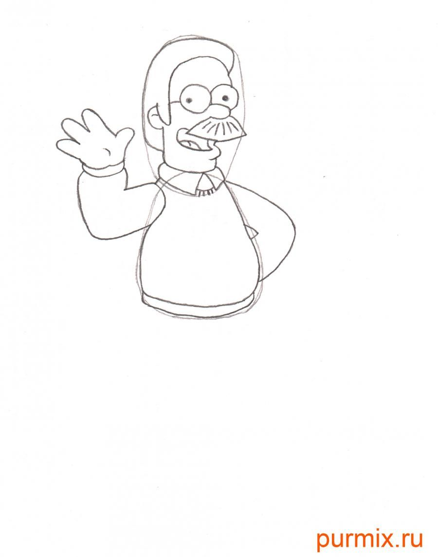 How to draw Maggie from Simpsonov with a pencil step by step 5