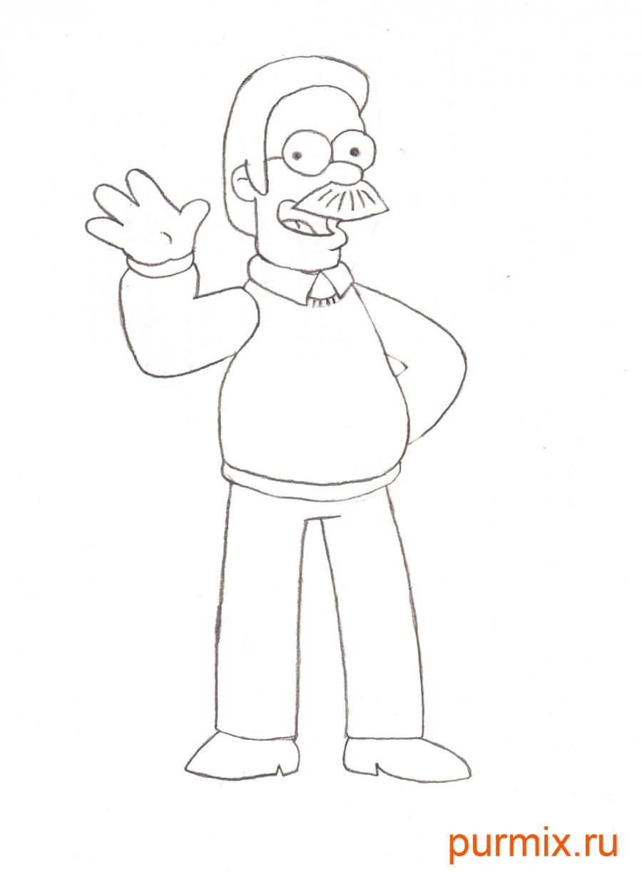 How to draw Maggie from Simpsonov with a pencil step by step 6