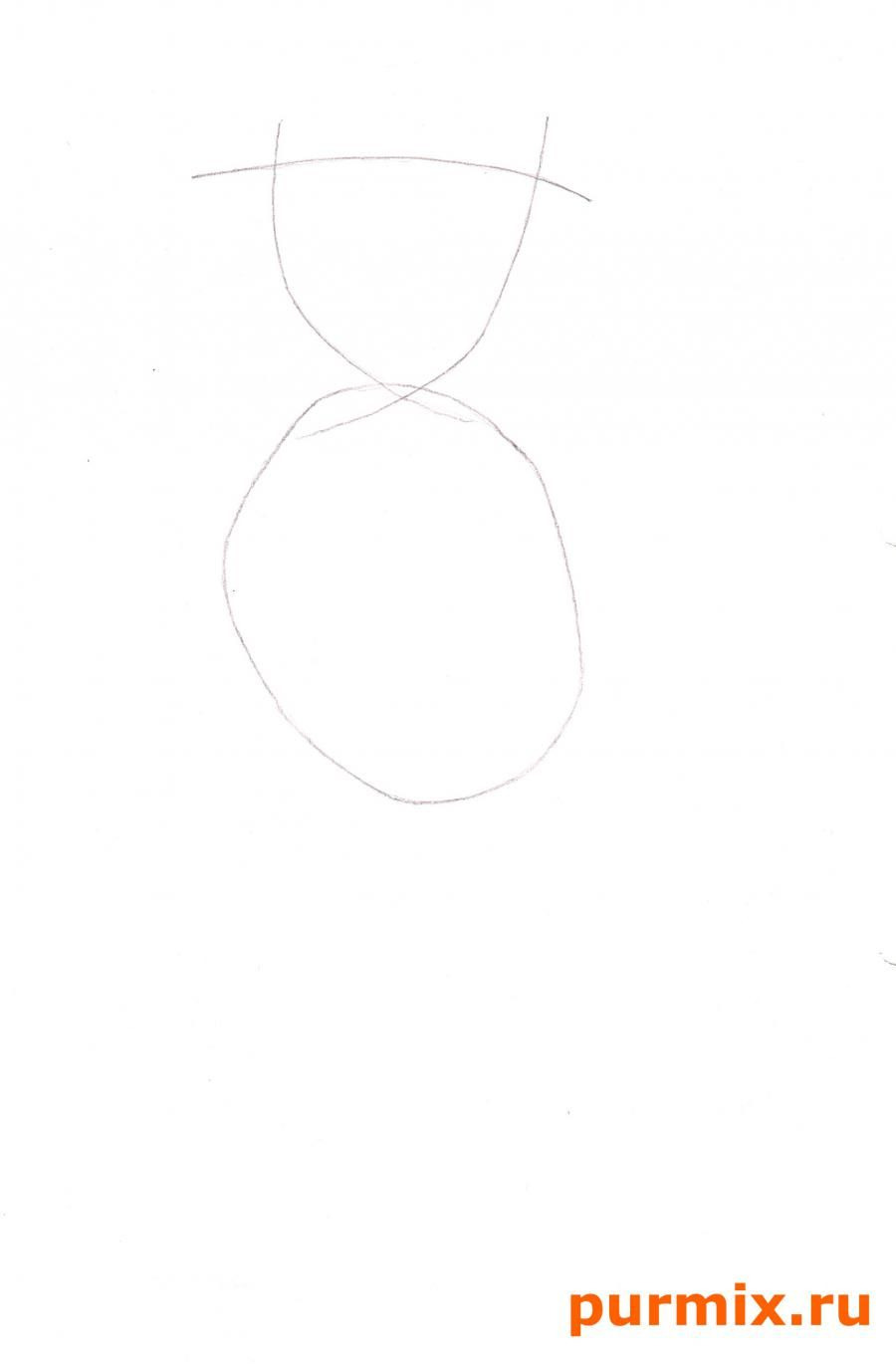 How to draw Marge from Simpsona's cartoon serial with a pencil step by step 2
