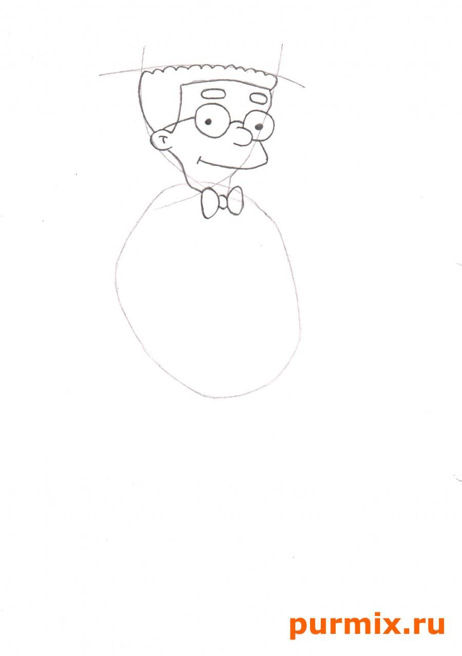 How to draw Marge from Simpsona's cartoon serial with a pencil step by step 3