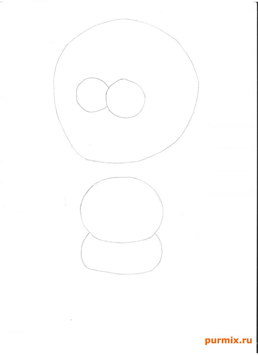 How to draw Homer from Simpsonov with a pencil step by step 2