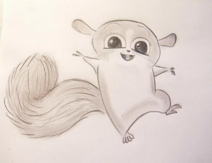 How to draw Mort from Madagascar with a pencil step by step