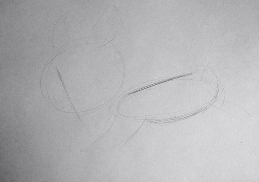 How to draw Y from Fiksiki's animated film with a pencil 2