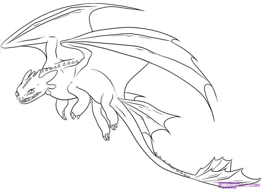 How to draw Bezzubik's dragon from How to tame a dragon a pencil