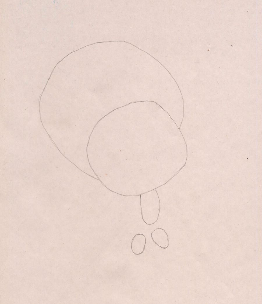 How to draw a snail Drift from the Turbo with a pencil step by step 2