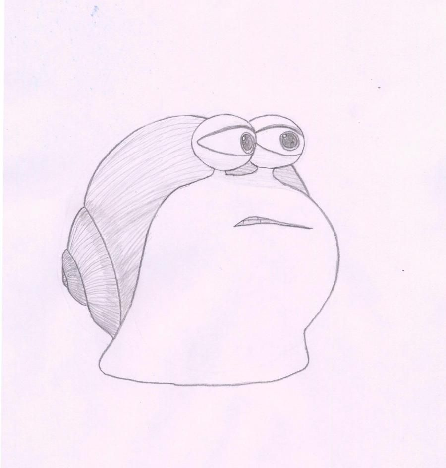 How to draw Chet from the animated film of the Turbo with a pencil step by step