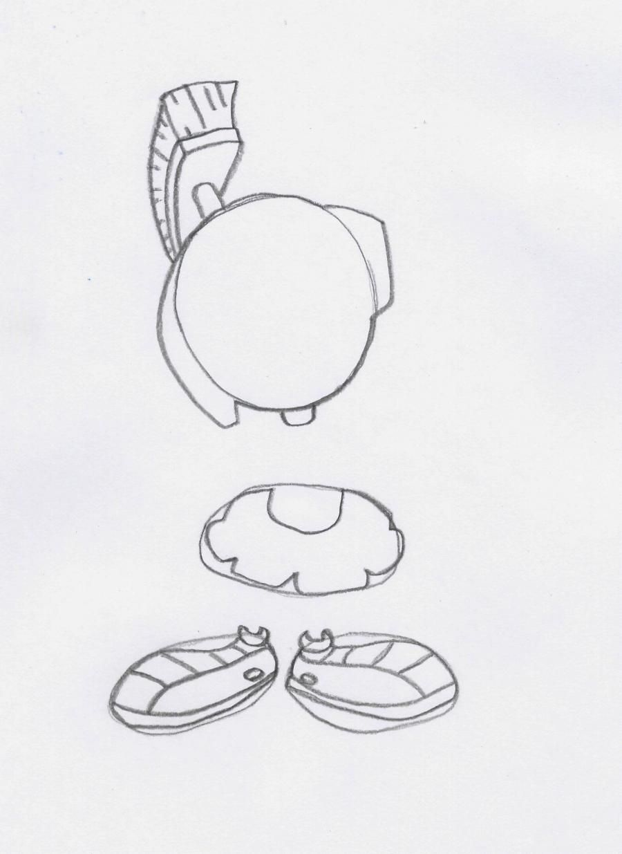 How to draw Pepe le Piou's skunk from Cheerful melodies step by step 3