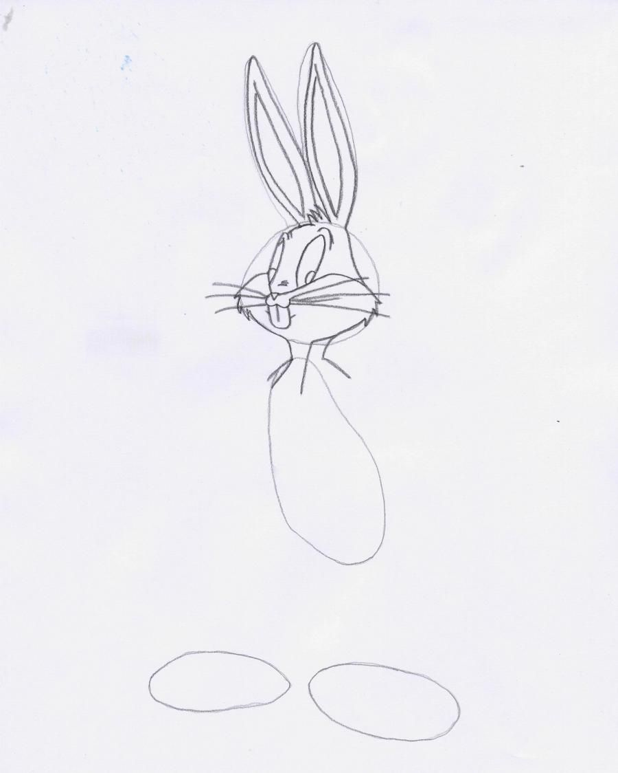 How to draw Spidi's mouse Gonzales from Cheerful melodies with a pencil 4