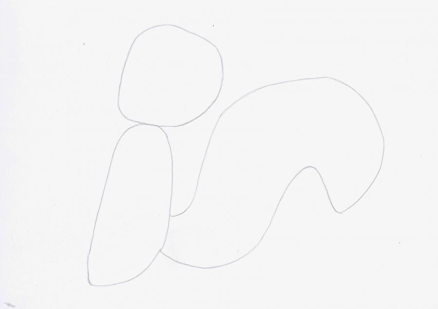 How to draw Porki Piga from Cheerful melodies with a pencil step by step 2