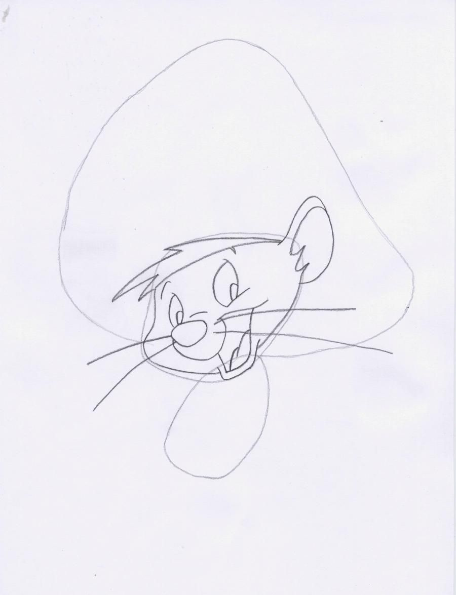 How to draw Elmer Fadd (Clever man) from Cheerful melodies step by step 3