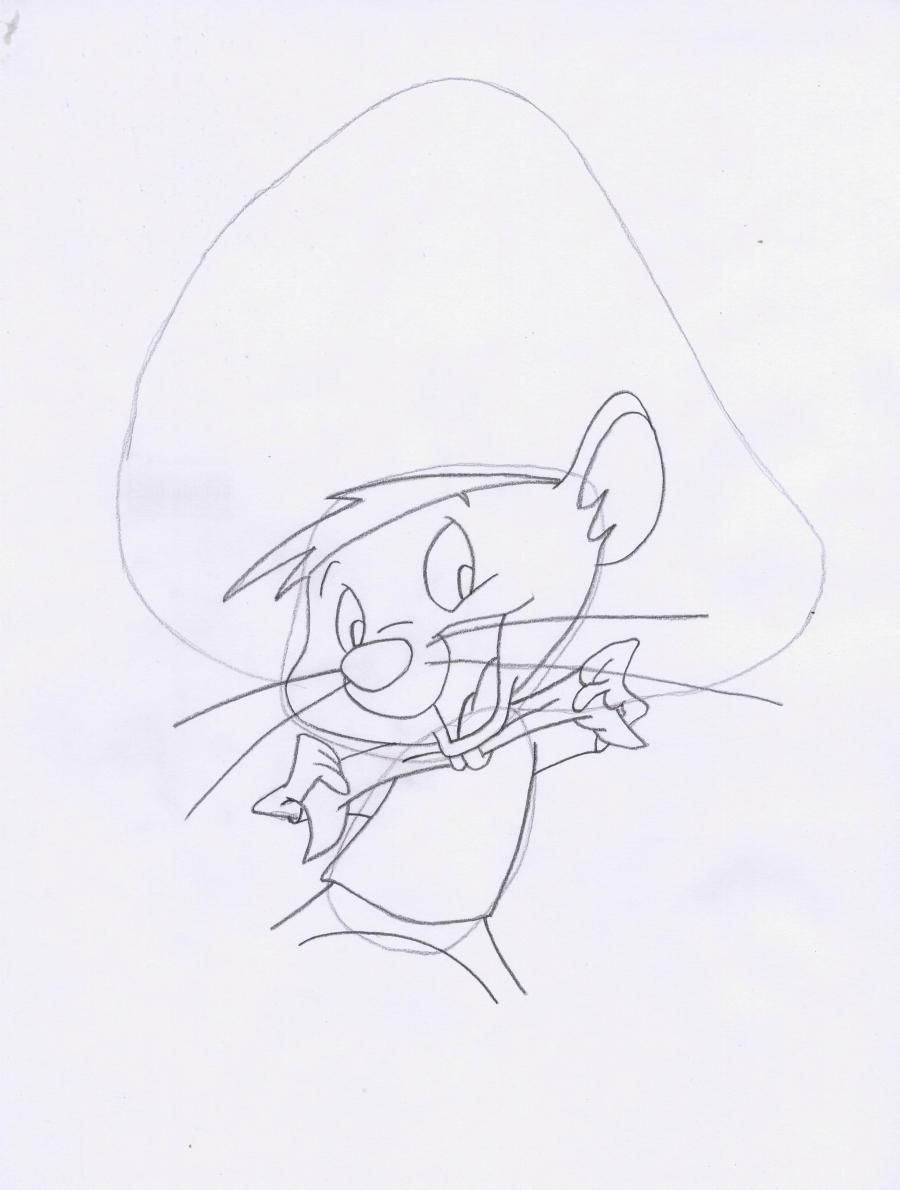 How to draw Elmer Fadd (Clever man) from Cheerful melodies step by step 4