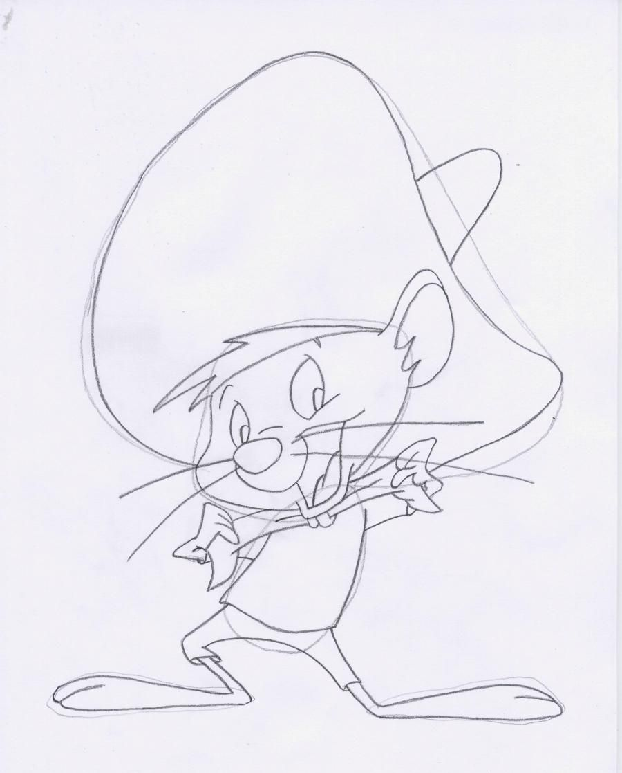 How to draw Elmer Fadd (Clever man) from Cheerful melodies step by step 5