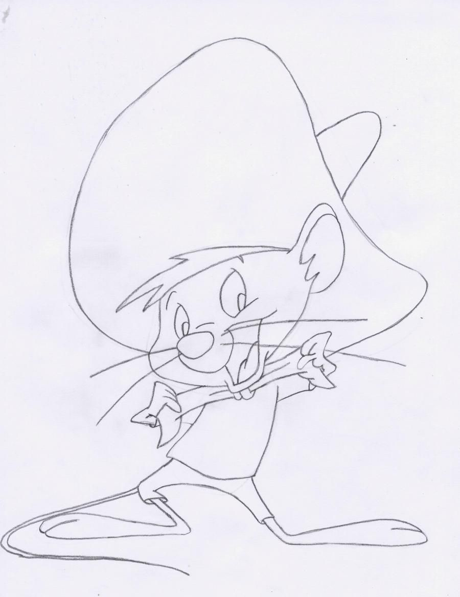 How to draw Elmer Fadd (Clever man) from Cheerful melodies step by step 6