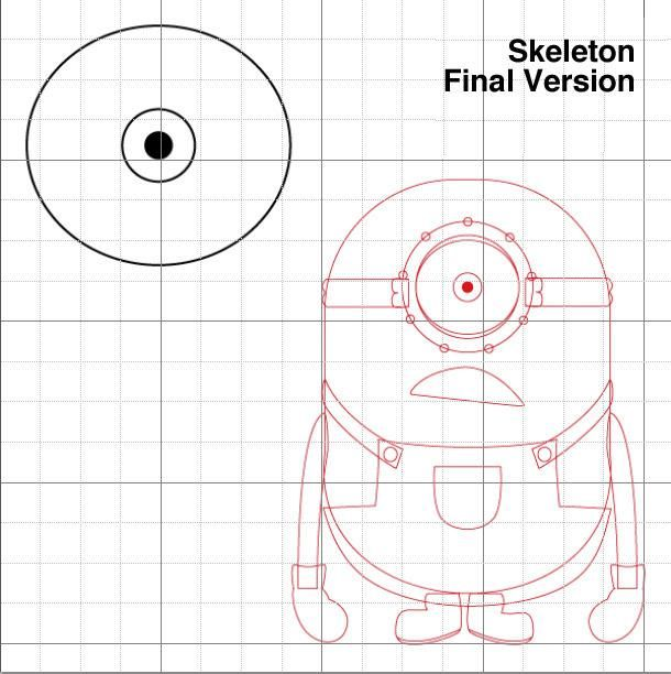 How to draw the Minion from the animated film Disgusting I step by step