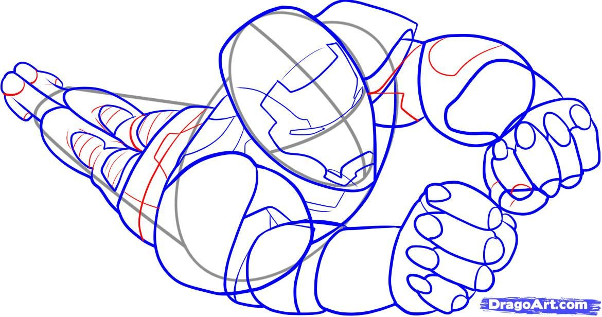 As it is simple to draw the Spiderman with a pencil step by step 7