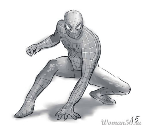 As it is simple to draw the Spiderman with a pencil step by step