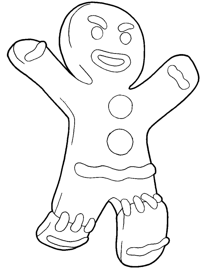 How to draw Gingerbread from a mult-m Shrek with a pencil step by step