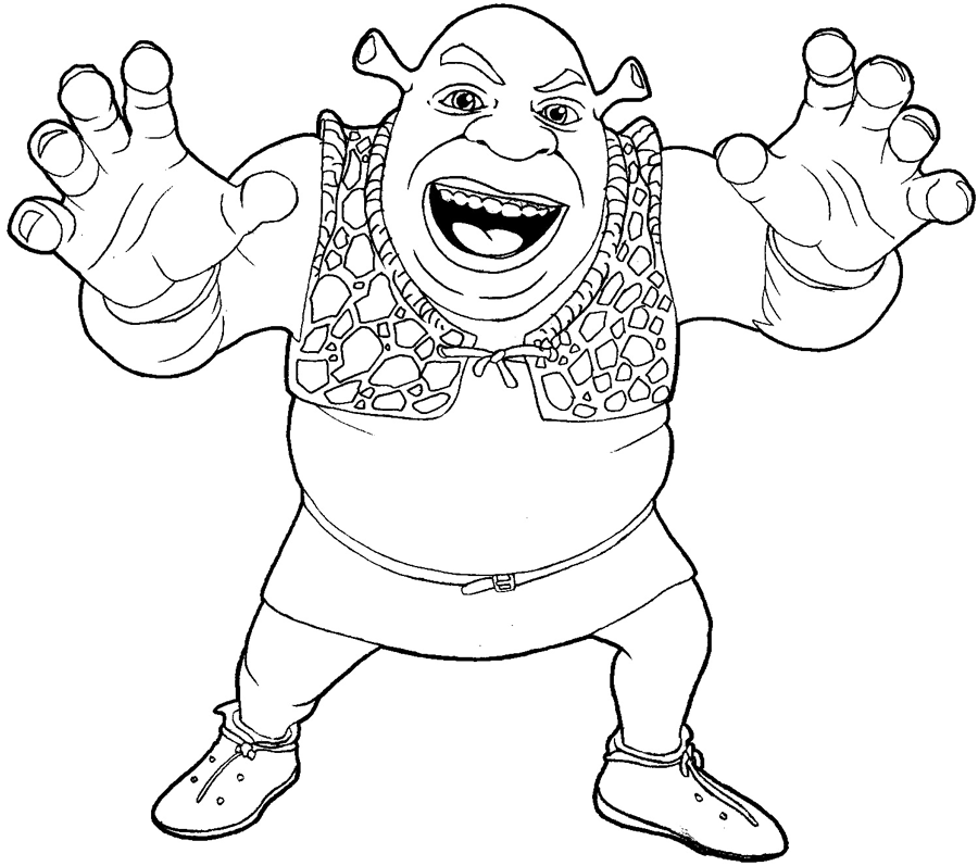 How to draw Shrek with a pencil step by step