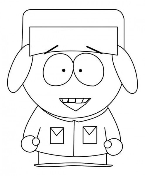 How to draw Kyle from South Park with a pencil step by step
