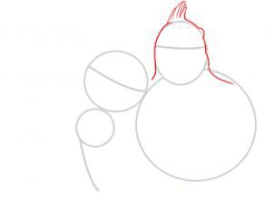 How to draw Buzz from history of toys step by step 3
