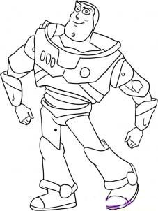 How to draw Buzz from history of toys step by step