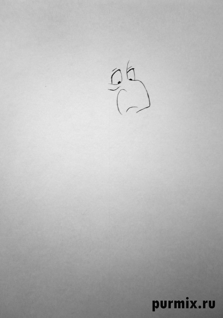 How to draw Mari's kitty from Cats of Aristocrats step by step 2