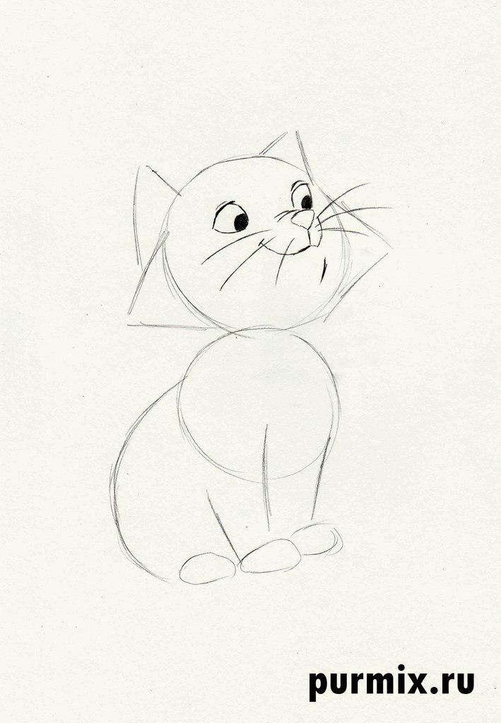 How to draw Thomas O'Melli from Cats of Aristocrats step by step 3