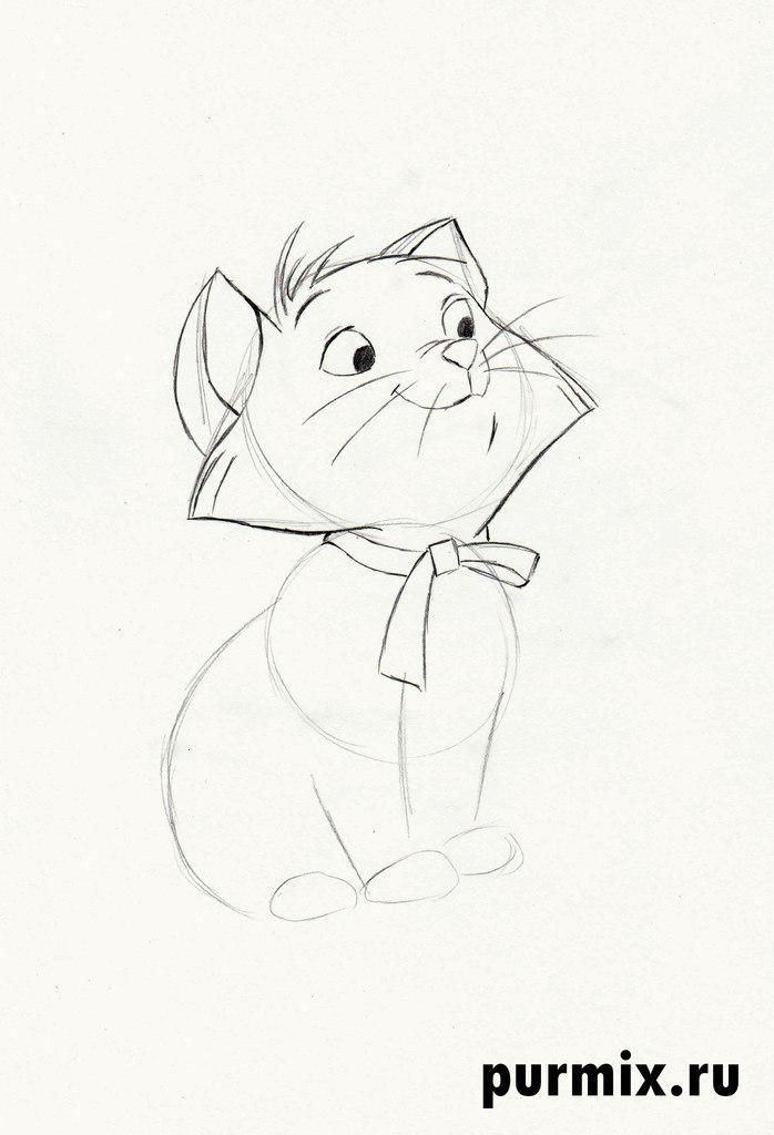 How to draw Thomas O'Melli from Cats of Aristocrats step by step 4
