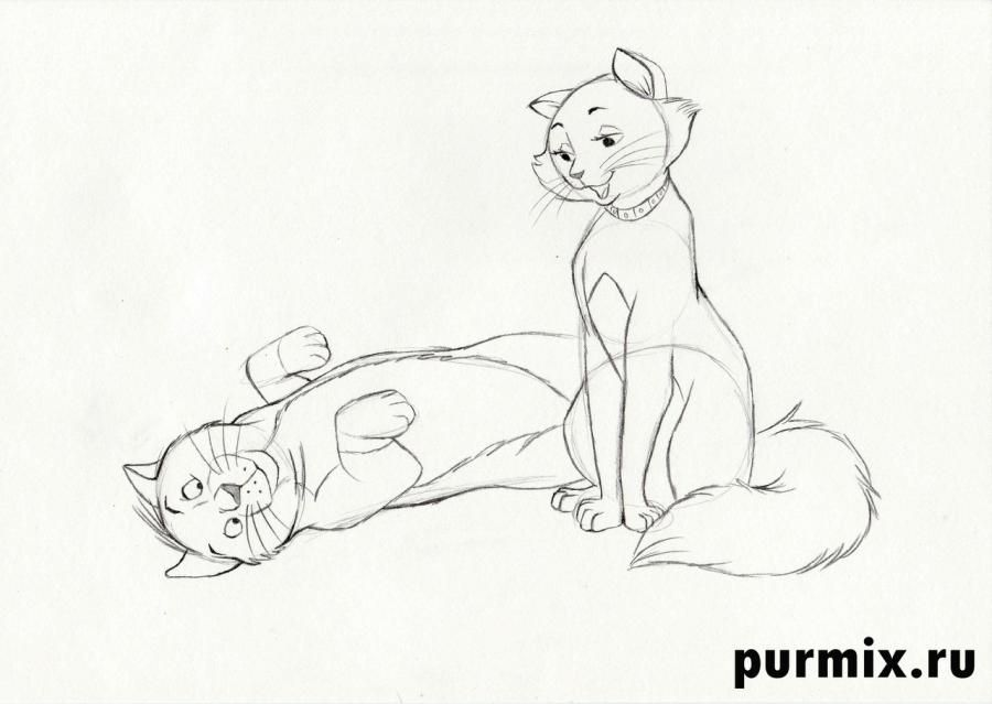 How to draw the Duchess from the animated film cats Aristocrats 6