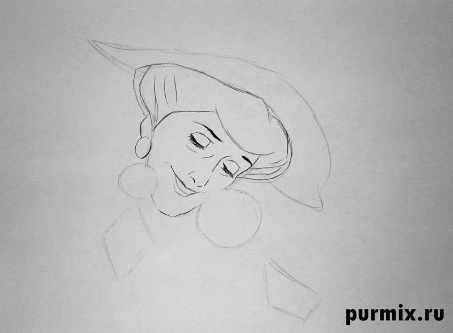 How to draw Nita from the Brother a bear cub with the 2nd simple pencil 4
