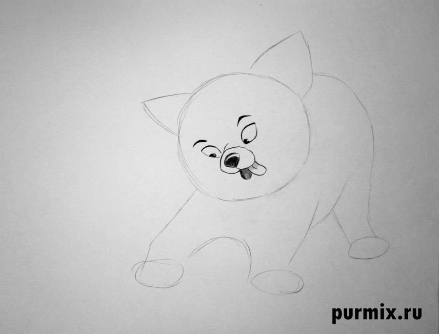 How to draw Sitka from the Brother a bear cub step by step 3