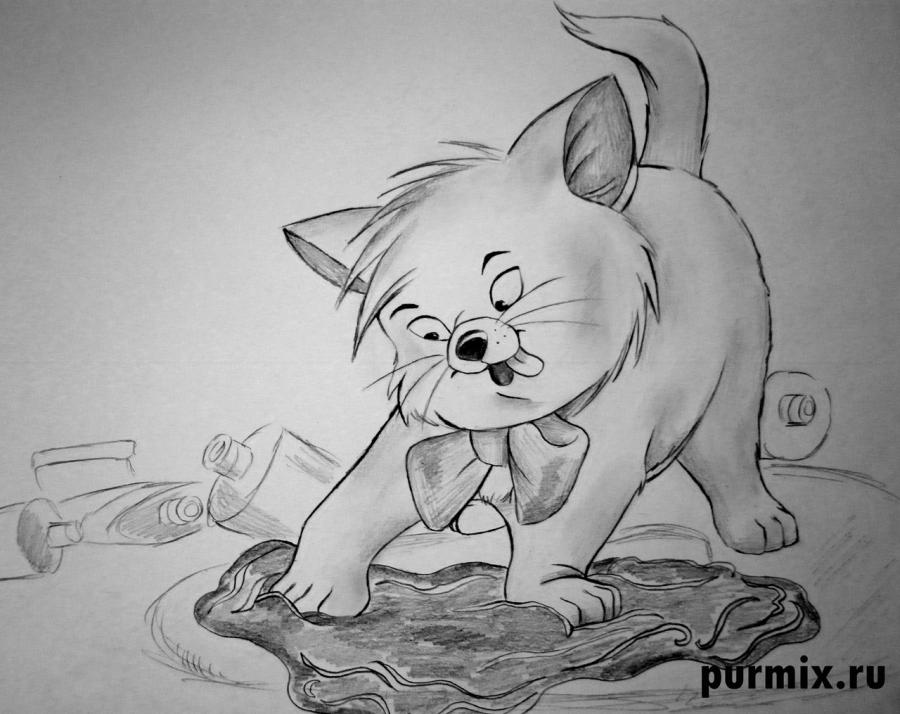 How to draw Toulouse from Cats Aristocrats with a simple pencil