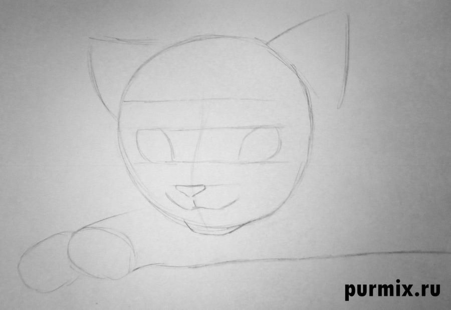 How to draw Tanana from the Brother a bear cub with a pencil step by step 3