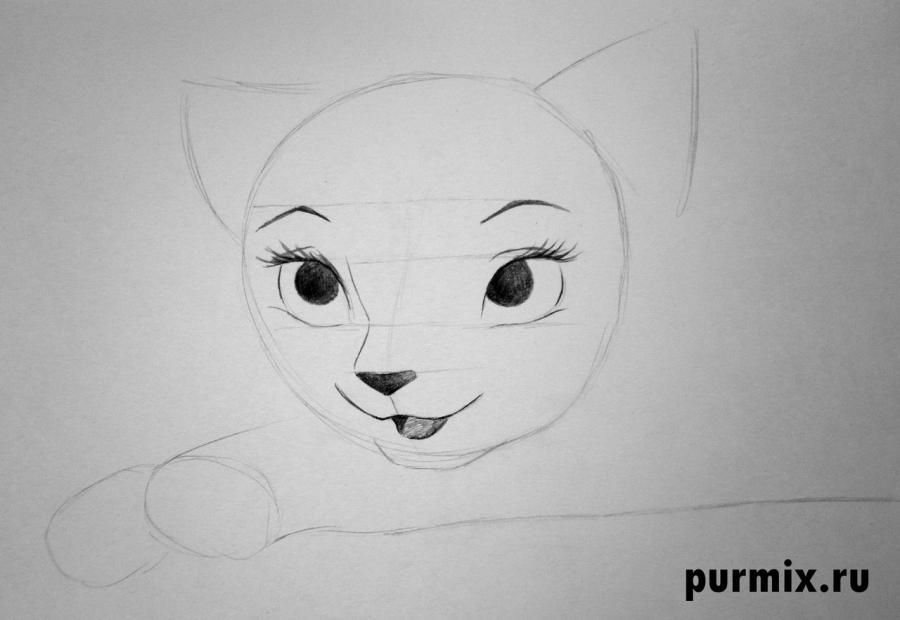 How to draw Tanana from the Brother a bear cub with a pencil step by step 4