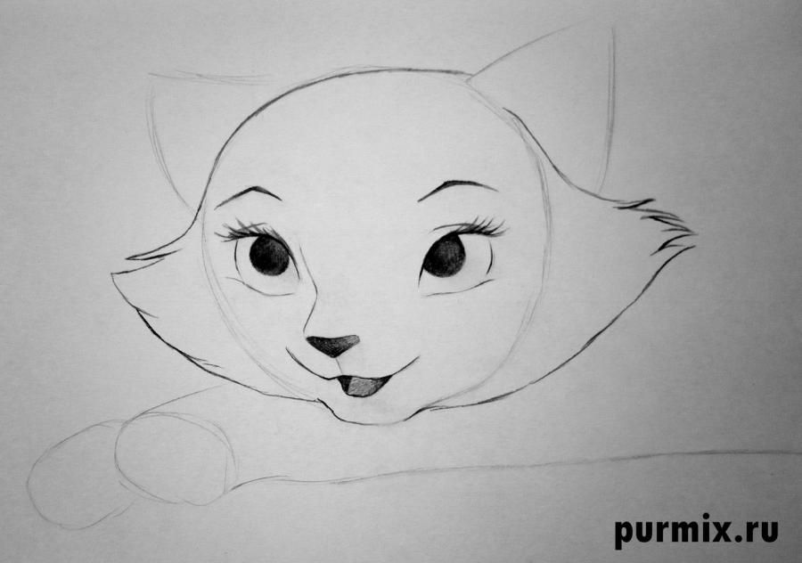 How to draw Tanana from the Brother a bear cub with a pencil step by step 5