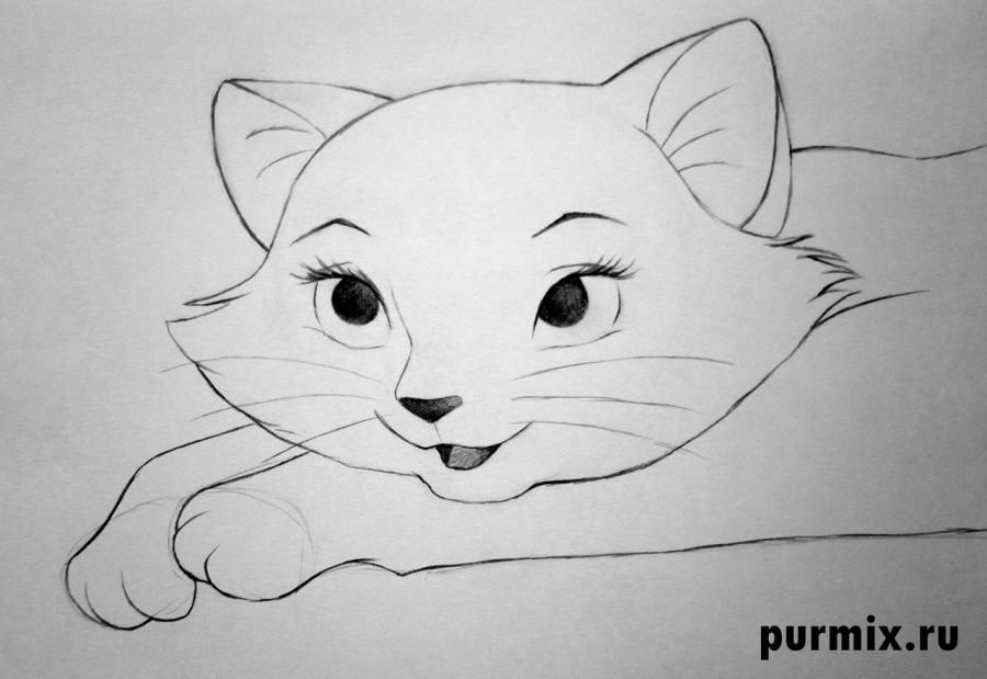How to draw Tanana from the Brother a bear cub with a pencil step by step 6