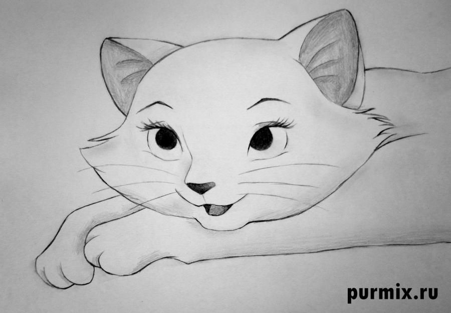 How to draw Tanana from the Brother a bear cub with a pencil step by step 7