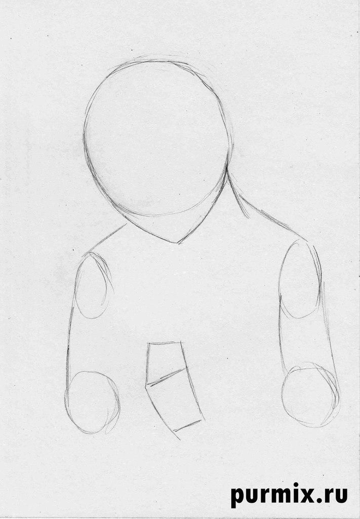 How to draw Kenaya of the person from the Brother a bear cub with a simple pencil 2