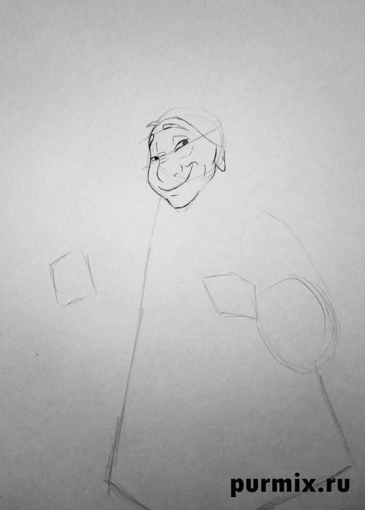 How to draw Kenaya from the animated film the Brother a bear cub 3
