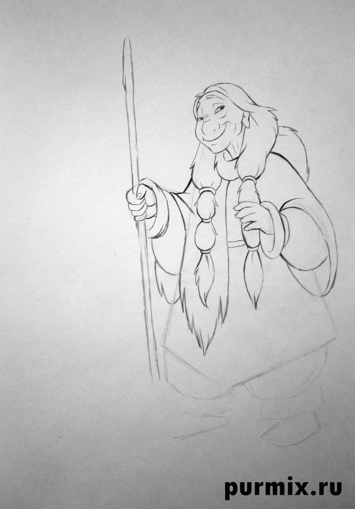 How to draw Kenaya from the animated film the Brother a bear cub 5