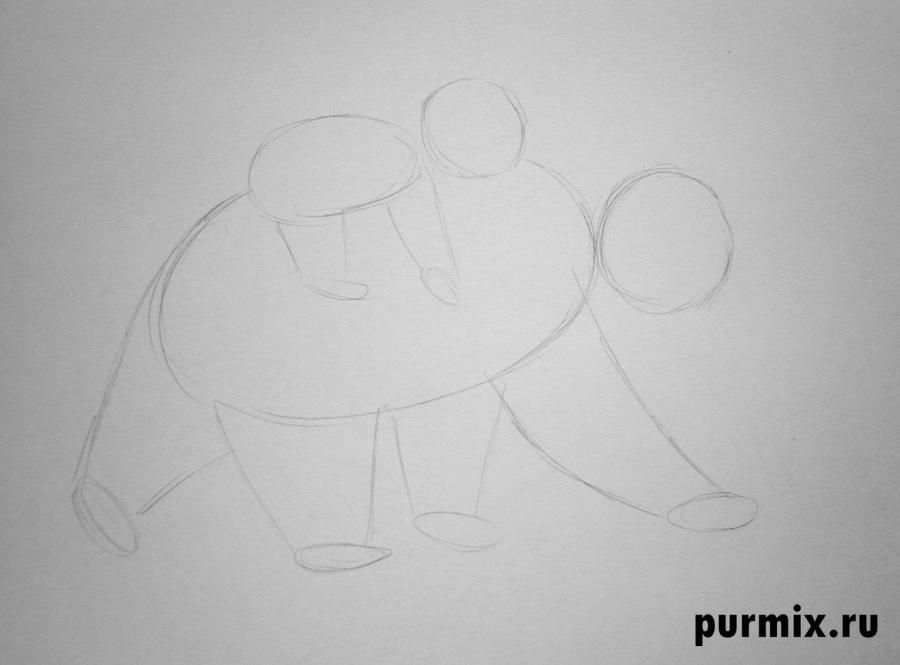 How to draw Panik and Bol from Hercules with a simple pencil 2