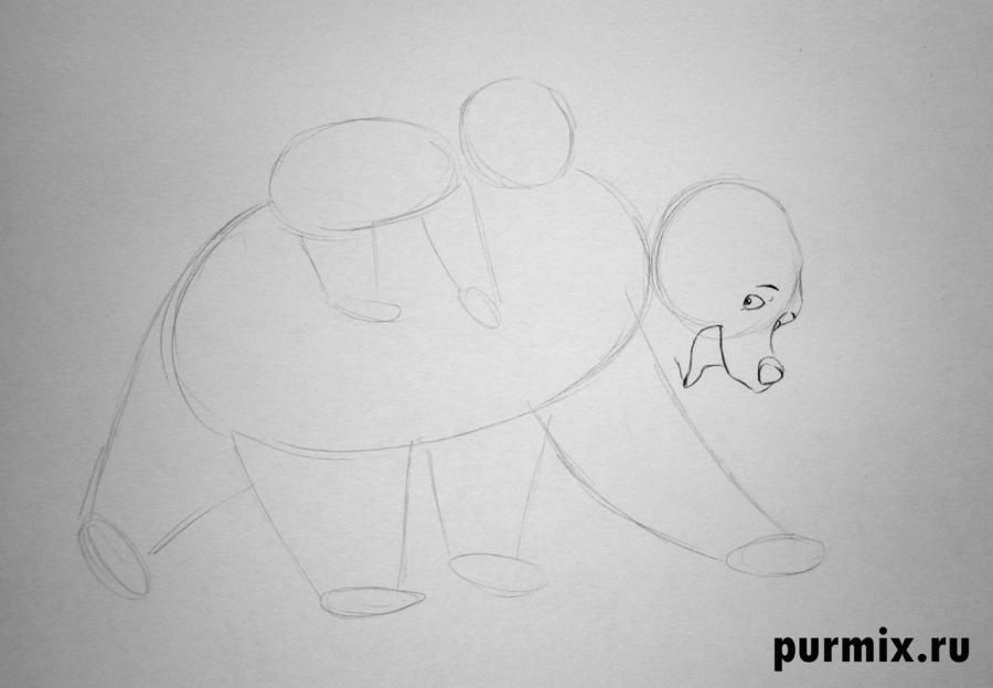 How to draw Panik and Bol from Hercules with a simple pencil 3