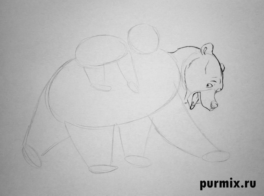 How to draw Panik and Bol from Hercules with a simple pencil 4