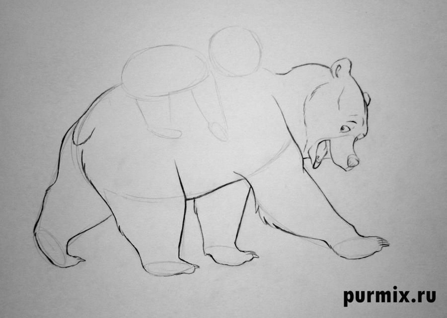 How to draw Panik and Bol from Hercules with a simple pencil 5