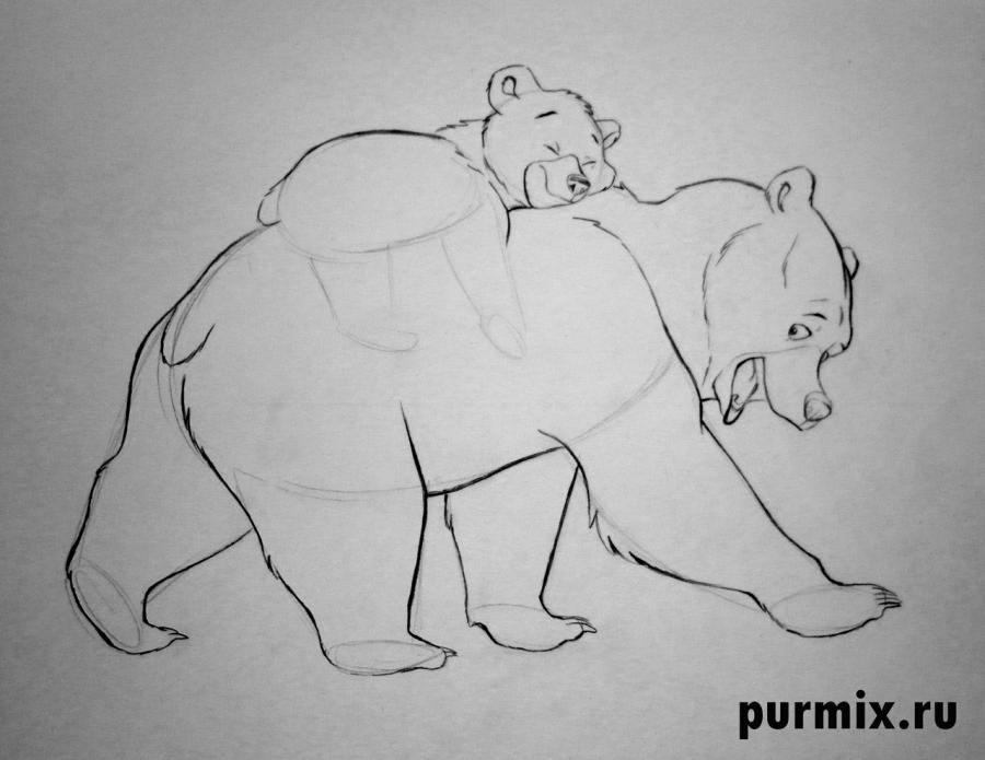 How to draw Panik and Bol from Hercules with a simple pencil 7